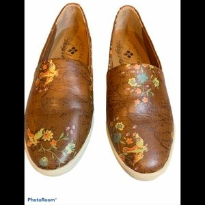 Patricia Nash Lola leather floral map shoes